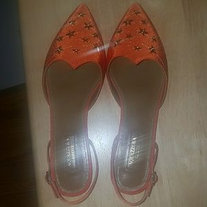 Brand new AQUAZZURA FIRENZE Cosmic Star flat
